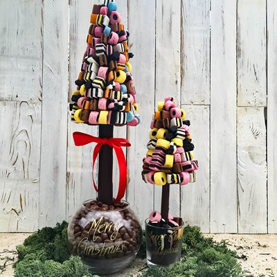 PERSONALISED ALLSORTS CHOCOLATE CHRISTMAS SWEET TREE