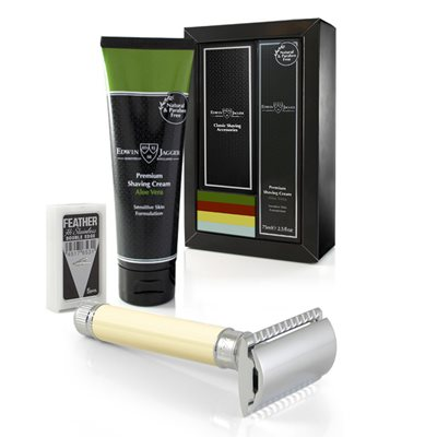 EDWIN JAGGER MEN'S RAZOR & CREAM GIFT SET