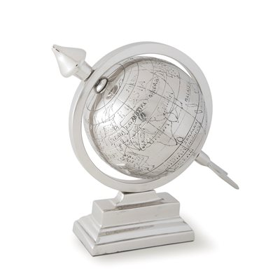 DESK TOP GLOBE in Aluminium by Culinary Concepts