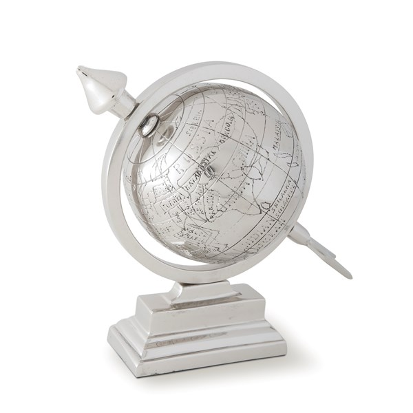 Culinary Concepts Desk Top Globe in Aluminium