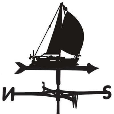 Weathervane in Amber Sailing Yacht Design