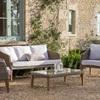 Ambersham Indoor/Outdoor Furniture Set Rattan and Teak