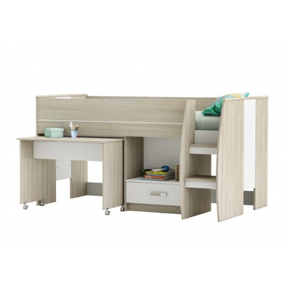Amelia mid sleeper kids cabin bed cabin beds cuckooland for Couch 90x200