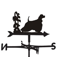 Product photograph showing Weathervane In American Cocker Design - Medium Cottage