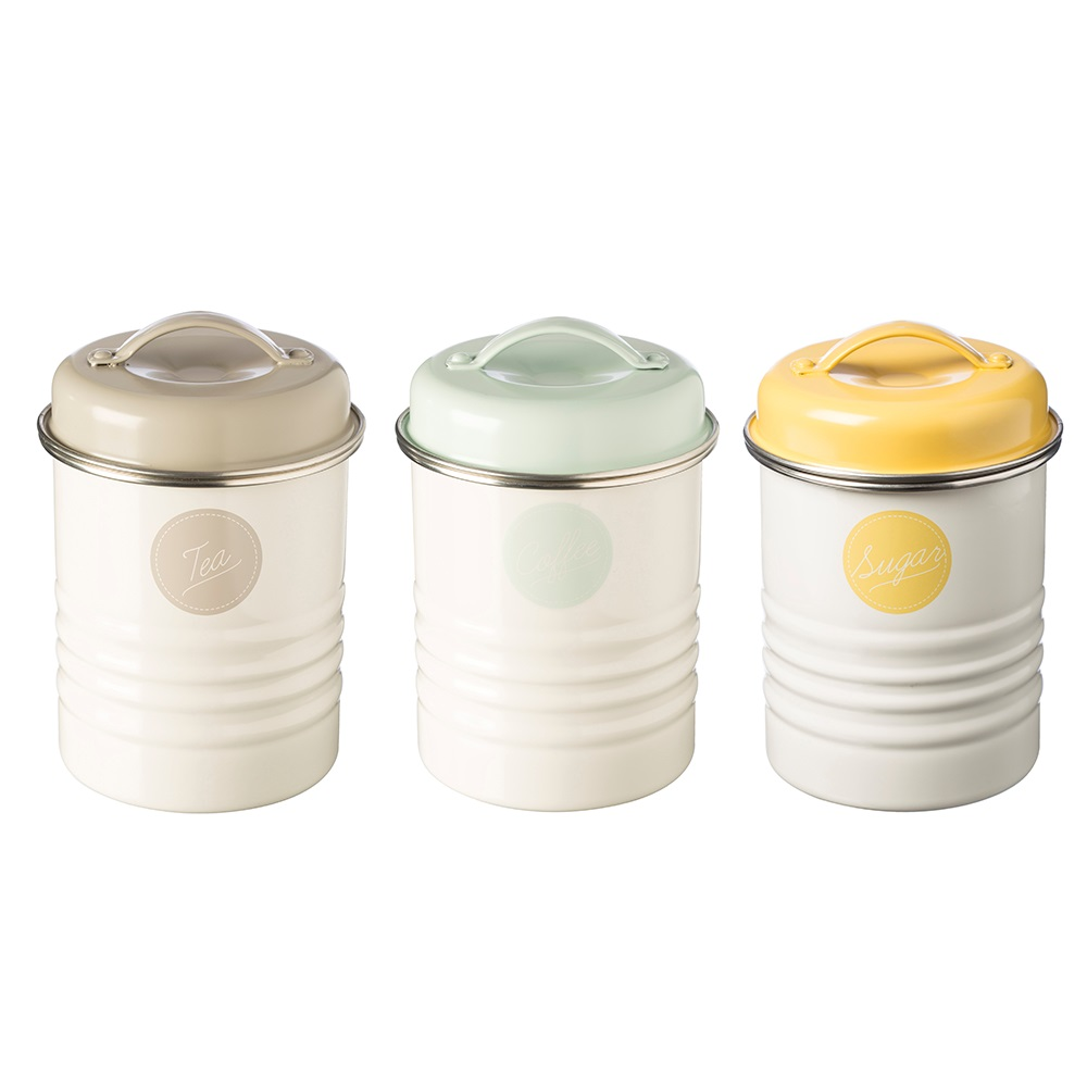 Typhoon Tea Coffee Sugar Canisters In Americana Design