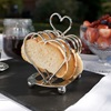 Amore Heart Toast Rack Silver Plated