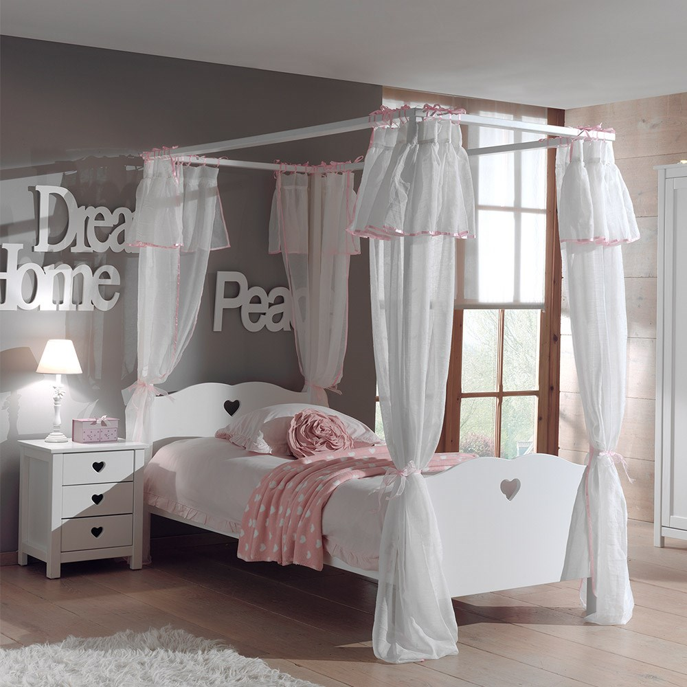 1222f150e41e4 Amori Kids Four Poster Bed With Curtains - Kids Beds