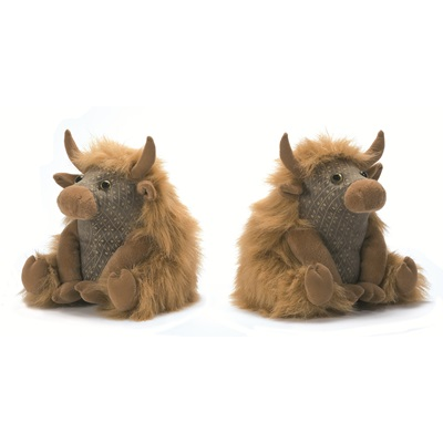 ANGUS HIGHLAND COW Animal Bookends by Dora Designs