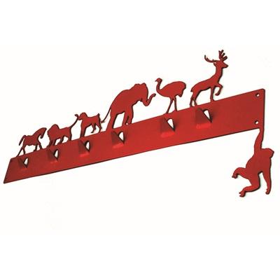ANIMAL COAT RACK in Red