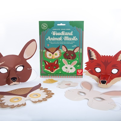 WOODLAND ANIMAL MASKS Activity Set
