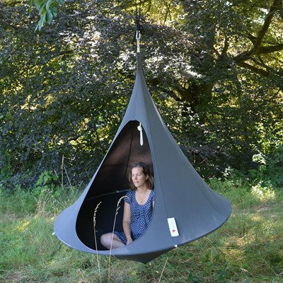 Double Hanging Cacoon in Anthracite