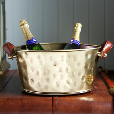 CHAMPAGNE BATH ANTIQUE BRASS (Half Size) by Culinary Concepts