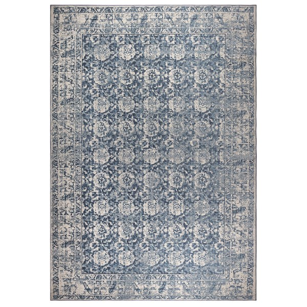 Zuiver Malva Woven Rug in Denim Blue