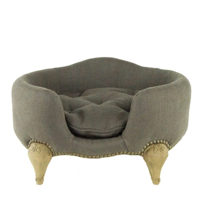 ANTOINETTE LUXURY DOG BED in Belgium Charcoal