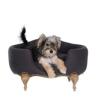 ANTOINETTE LUXURY DOG BED in Fusli Grey
