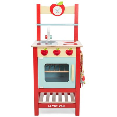 LE TOY VAN APPLEWOOD WOODEN PLAY KITCHEN with Apple Motif