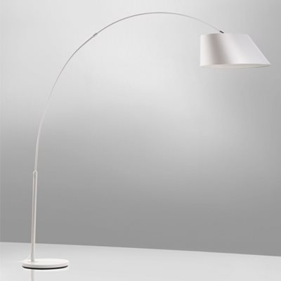 Image of ARC STUDY FLOOR LAMP in White