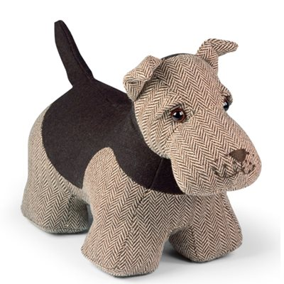 ARCHIE AIREDALE TERRIER Dog Animal Doorstop by Dora Designs