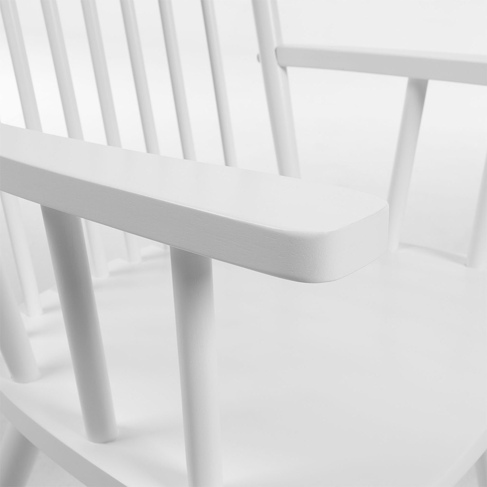 White Traditional Rocking Chair