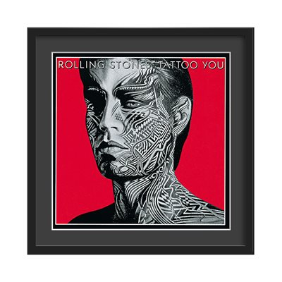 THE ROLLING STONES FRAMED ALBUM WALL ART in Tattoo You Print