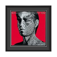 THE ROLLING STONES FRAMED ALBUM WALL ART in Tattoo You Print  Large
