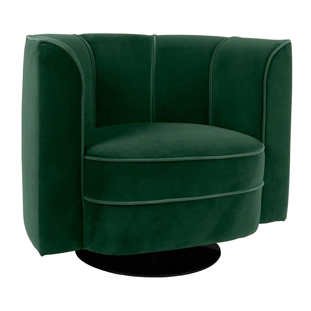 Velvet Luxury Large Swivel Armchair