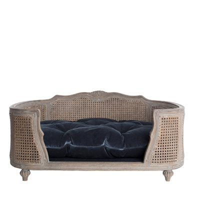 THE ARTHUR DESIGNER PET BED in Pile Blue