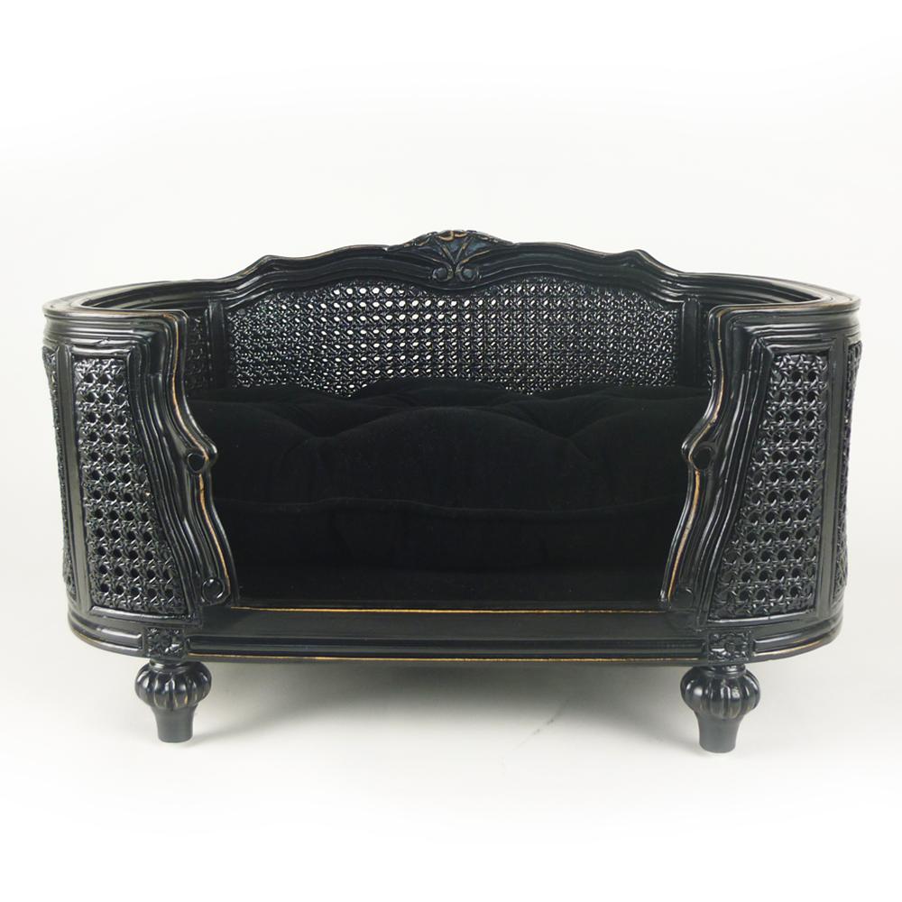 the arthur designer pet bed in velvet black   cuckooland - arthurdesignervelvetblackpng