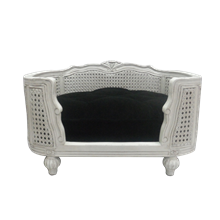 Arthur-Designer-pet-bed-white-velvet-black.png