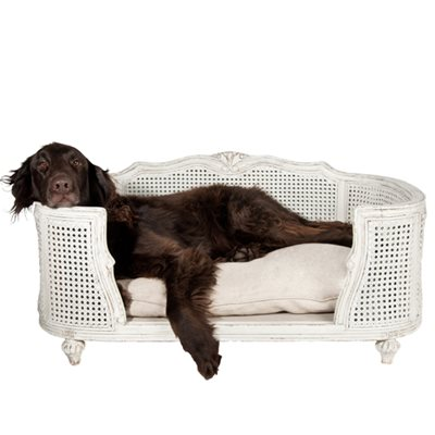 THE ARTHUR DESIGNER PET BED in Linen Ecru