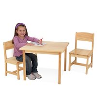 KIDS ASPEN TABLE AND CHAIR SET in Natural Finish
