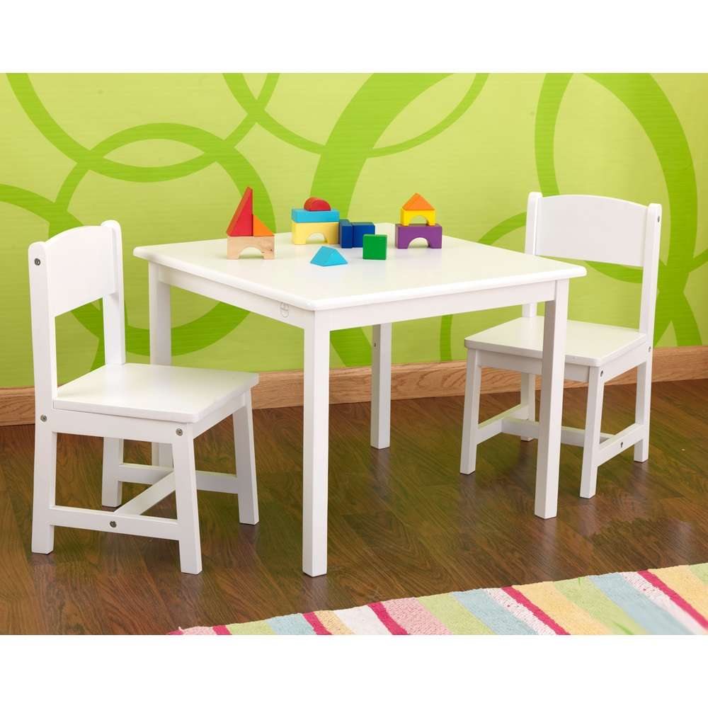 KIDS ASPEN TABLE AND CHAIR SET in White Girls Bedroom Furniture Cu