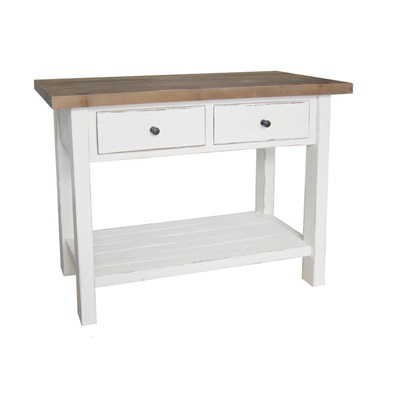 SIDE CONSOLE TABLE in Distressed Paint Finish