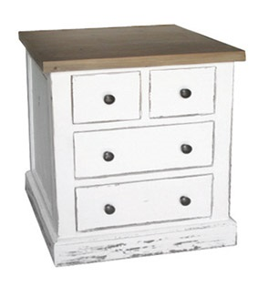 FREE STANDING DRAWER CABINET in Distressed Paint Finish