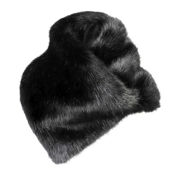Faux Fur Scarf in Black