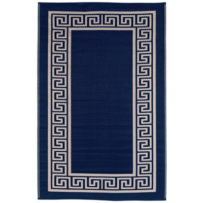 FAB HAB ATHENS OUTDOOR RUG in Navy & Cream