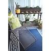 Patio Outdoor Rug in Athens Design - Blue