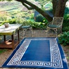 Athens Style Blue Outdoor Rug.