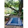 Outdoor Rug for Garden, Patio or Beach - Blue Athens Design