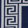 Closeup of Athens Blue Outdoor Rug