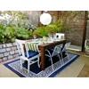 Athens Blue Outdoor Rug - perfect for patios & garden.