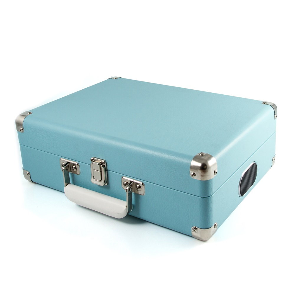 GPO Attache Record Player Suitcase in French Blue | Cuckooland