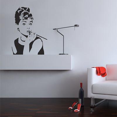WALL STICKER in 'Hepburn' design