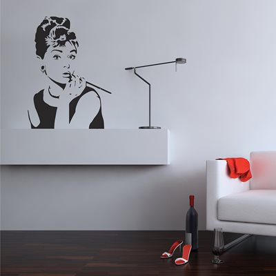 WALL STICKER in 'Hepburn' design
