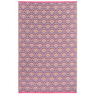 FAB HAB AVEIRO OUTDOOR RUG in Violet & Orange