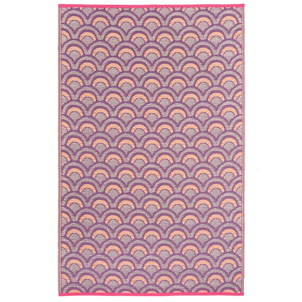 Fab Hab Averio Outdoor Rug in Violet and Orange