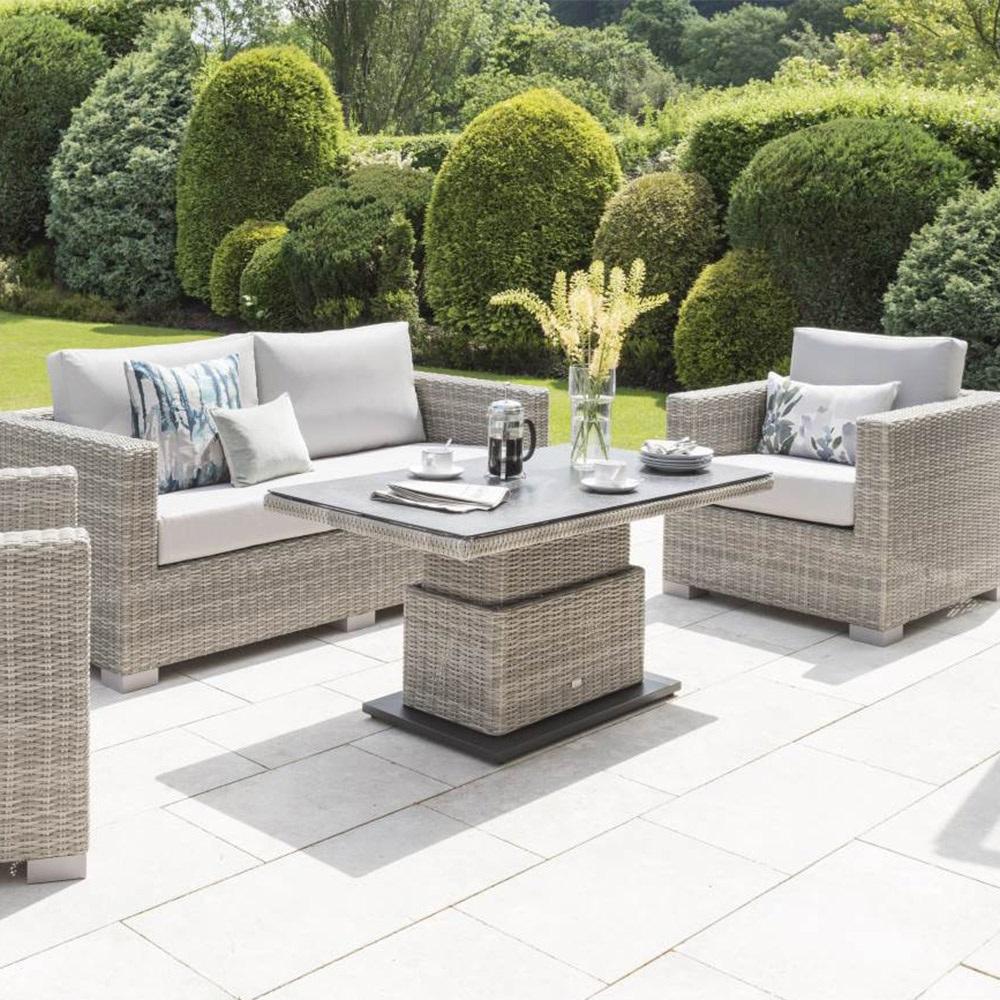 Aya Outdoor Sofa Set With Adjustable Height Table ...