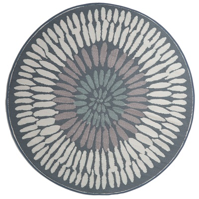 Fab Hab Azores Outdoor Rug in Grey