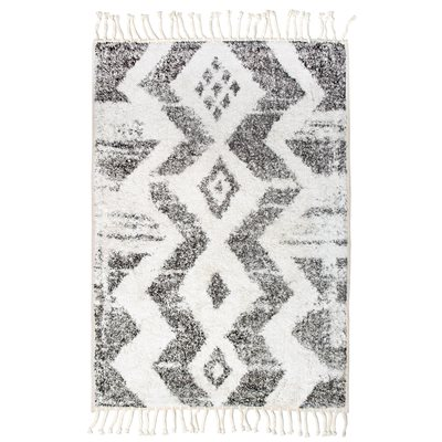 MOROCCAN STYLE COTTON RUG in Monochrome