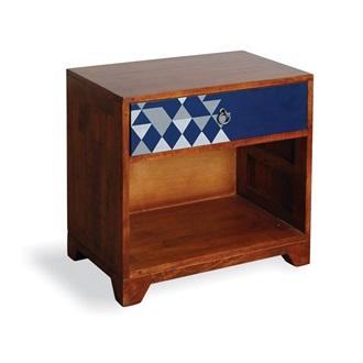 aztec vintage side table in navy blue side coffee tables cuckool